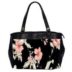 Buds Petals Dark Flower Pink Office Handbags (2 Sides)  by AnjaniArt