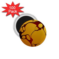 Black Yellow Orange 1 75  Magnets (100 Pack)  by AnjaniArt