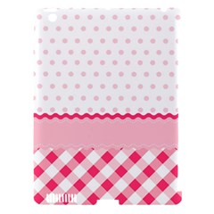 Cute Cartoon Decorative Pink Apple Ipad 3/4 Hardshell Case (compatible With Smart Cover) by AnjaniArt