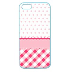 Cute Cartoon Decorative Pink Apple Seamless Iphone 5 Case (color) by AnjaniArt