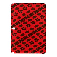 Diogonal Flower Red Samsung Galaxy Tab Pro 12 2 Hardshell Case by AnjaniArt