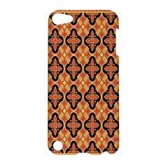Flower Batik Apple Ipod Touch 5 Hardshell Case by AnjaniArt