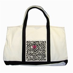 Flower Simple Pink Two Tone Tote Bag by AnjaniArt