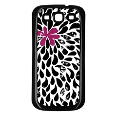 Flower Simple Pink Samsung Galaxy S3 Back Case (black) by AnjaniArt