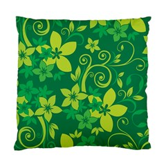 Flower Yellow Green Standard Cushion Case (one Side) by AnjaniArt