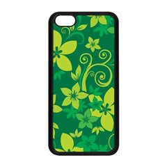 Flower Yellow Green Apple Iphone 5c Seamless Case (black) by AnjaniArt