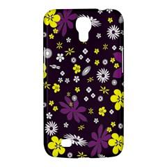 Floral Purple Flower Yellow Samsung Galaxy Mega 6 3  I9200 Hardshell Case by AnjaniArt