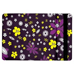 Floral Purple Flower Yellow Ipad Air Flip by AnjaniArt