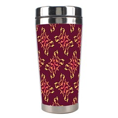 Flower Purple Stainless Steel Travel Tumblers by AnjaniArt