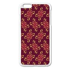 Flower Purple Apple Iphone 6 Plus/6s Plus Enamel White Case by AnjaniArt