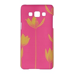 Flower Yellow Pink Samsung Galaxy A5 Hardshell Case  by AnjaniArt