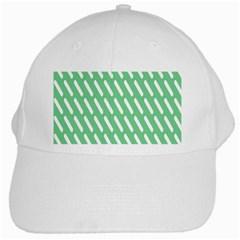 Green White Desktop White Cap by AnjaniArt