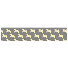 Hearts And Yellow Crossed Washi Tileable Gray Flano Scarf (small) by AnjaniArt