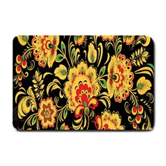 Flower Yellow Green Red Small Doormat  by AnjaniArt