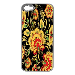 Flower Yellow Green Red Apple Iphone 5 Case (silver) by AnjaniArt