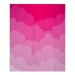 Lines Pink Cloud Shower Curtain 60  X 72  (medium)  by AnjaniArt