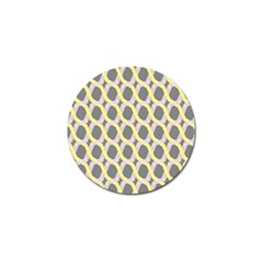 Hearts And Yellow Washi Zigzags Tileable Golf Ball Marker (10 Pack) by AnjaniArt