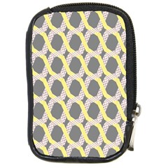 Hearts And Yellow Washi Zigzags Tileable Compact Camera Cases
