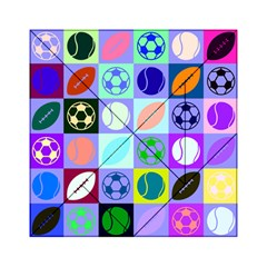 Sports Ball Acrylic Tangram Puzzle (6  X 6 ) by AnjaniArt