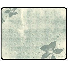 Shadow Flower Gray Fleece Blanket (medium)  by AnjaniArt