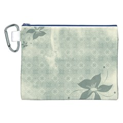 Shadow Flower Gray Canvas Cosmetic Bag (xxl) by AnjaniArt