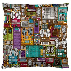Rol The Film Strip Large Cushion Case (two Sides) by AnjaniArt