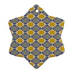 Arabesque Star Snowflake Ornament (2 Side) by Jojostore