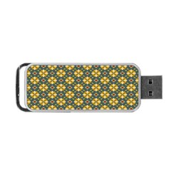 Arabesque Flower Yellow Portable Usb Flash (one Side) by Jojostore