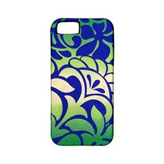 Batik Fabric Flower Apple Iphone 5 Classic Hardshell Case (pc+silicone) by Jojostore