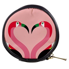 Bird Flamingo Illustration Love Mini Makeup Bags by Jojostore