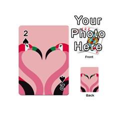 Bird Flamingo Illustration Love Playing Cards 54 (mini)  by Jojostore