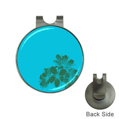 Blue Flower Hat Clips With Golf Markers by Jojostore