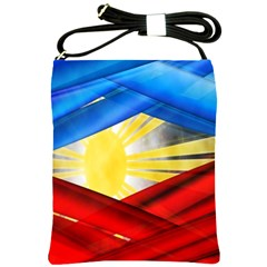 Blue Red Yellow Colors Shoulder Sling Bags by Jojostore