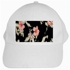 Buds Petals Dark Flower Pink White Cap by Jojostore