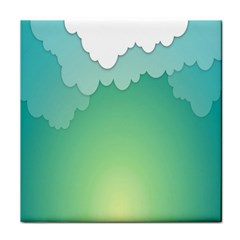 Clouds Tile Coasters