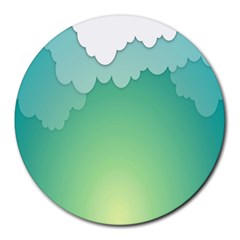 Clouds Round Mousepads by Jojostore