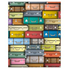 Colored Suitcases Drawstring Bag (small) by Jojostore