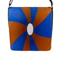 Curve Blue Orange Flap Messenger Bag (l)  by Jojostore