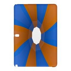 Curve Blue Orange Samsung Galaxy Tab Pro 12 2 Hardshell Case by Jojostore