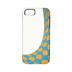 Curve Blue Yellow Apple Iphone 5 Classic Hardshell Case (pc+silicone) by Jojostore