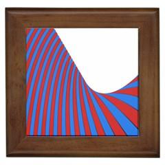 Curve Red Blue Framed Tiles by Jojostore