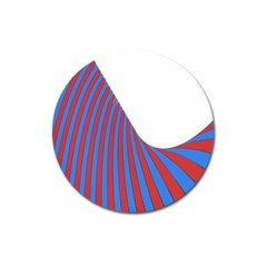 Curve Red Blue Magnet 3  (round) by Jojostore