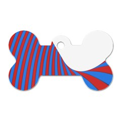 Curve Red Blue Dog Tag Bone (two Sides) by Jojostore