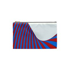 Curve Red Blue Cosmetic Bag (small)  by Jojostore
