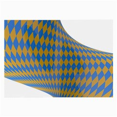 Curve Yellow Blue Large Glasses Cloth (2 Side) by Jojostore