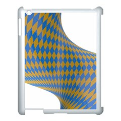 Curve Yellow Blue Apple Ipad 3/4 Case (white) by Jojostore