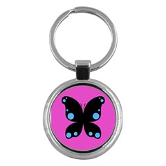 First Butterfly Pink Key Chains (round)  by Jojostore