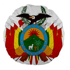 Coat Of Arms Of Bolivia  Large 18  Premium Flano Round Cushions by abbeyz71