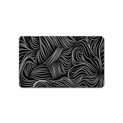 Flower Black Line Magnet (Name Card) by Jojostore