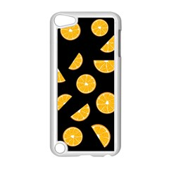 Oranges Pattern   Black Apple Ipod Touch 5 Case (white) by Valentinaart